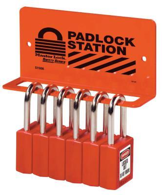 MASTER LOCK Safety Series Heavy Duty Padlock Racks, 6 1/4 in
