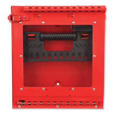 MASTER LOCK Red Steel Group Lockout Box, Max Number of Padlocks: 12, 13-11/16 in x 12-1/8 in