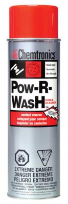 CHEMTRONICS Pow-R-Wash Contact Cleaners, 13 1/2 oz Aerosol Can