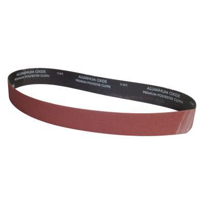 CARBORUNDUM Aluminum Oxide Narrow Belts, 2 in x 48 in, 100 Grit