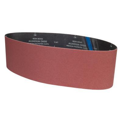 CARBORUNDUM Aluminum Oxide Narrow Belts, 6 in x 48 in, 80 Grit