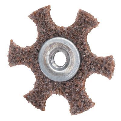 MERIT ABRASIVES Surface Preparation Star 3 X 1/4-20 Medium