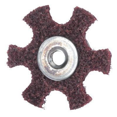 MERIT ABRASIVES Surface Preparation Star 1 1/2 X 1/4-20 Medium