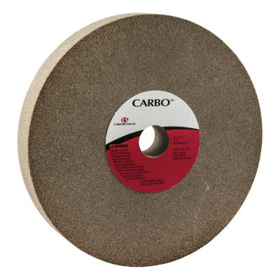 CARBORUNDUM Bench and Pedestal Wheels, Type 1, 8 in Dia., 1 in Thick, 80 Grit, M Grade