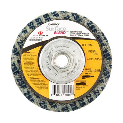 CARBORUNDUM Surface Blend Non-Woven Depressed Center Wheels, 4 1/2 x 5/8 in, Fine