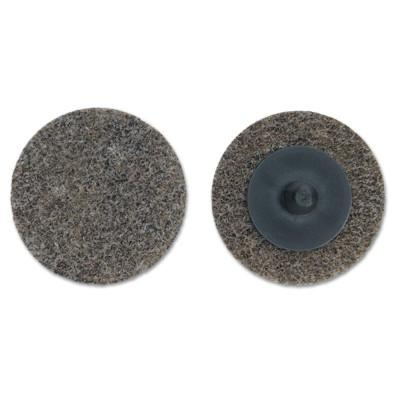MERIT ABRASIVES Deburring and Finishing Button Mount Wheels Type lll, 2 x 1/4, Medium