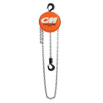 CM COLUMBUS MCKINNON Cyclone Hand Chain Hoist, 6 Tons Capacity, 15 ft Lifting Ht., 3 Fall, 90 lbf