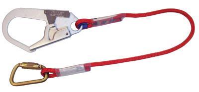 HONEYWELL MILLER Positioning and Restraint Lanyard, 6 ft, Twist-Lock Carabiner, Locking Rebar