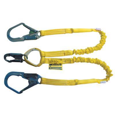 HONEYWELL MILLER Manyard Shock-Absorbing Lanyard, 4 ft, Anchorage Connection, 2 Leg, Yellow