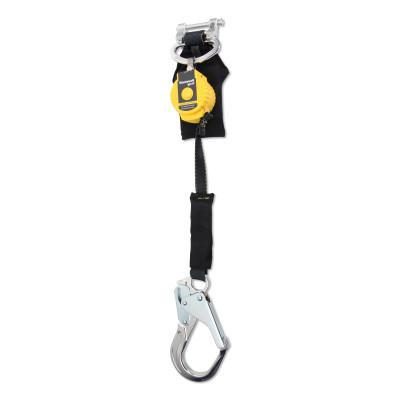 HONEYWELL MILLER TurboLite™ Flash Std Series Personal Fall Limiter, 6 ft, Single, Alum Locking Rebar Hook, 420 lb