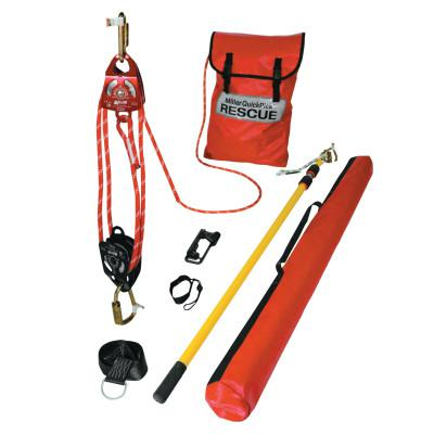 HONEYWELL MILLER QuickPick Rescue Kit, 100 ft Working Distance, 500 ft Rope, 400 lb Load Capacity