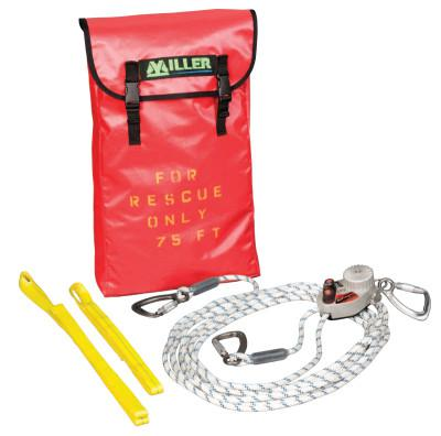 HONEYWELL MILLER SafEscape ELITE Rescue/Descent Devices, 75 ft; Anchor Slings; Pulley