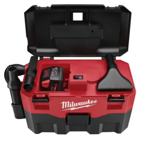 MILWAUKEE ELECTRIC TOOLS V18 Cordless Wet/Dry Vacuums, 2 gal