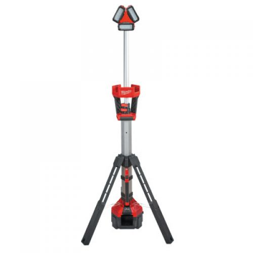 MILWAUKEE ELECTRIC TOOLS M18 ROCKET LED Tower Light/Charger (Tool Only), 18 V, 3,000 Lumens, Red/Gray