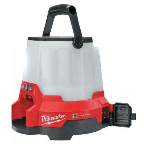 MILWAUKEE ELECTRIC TOOLS M18 RADIUS LED Compact Site Light w/ ONE-KEY, 18 V, 4,400 Lumens, Red