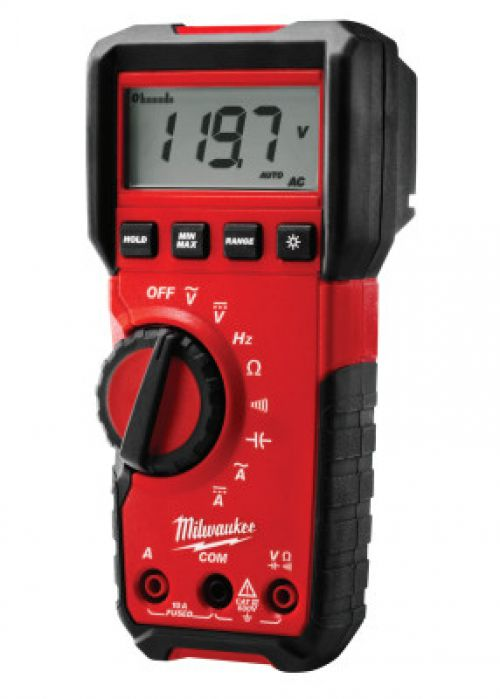 MILWAUKEE ELECTRIC TOOLS Milwaukee Digital Multimeters, 5 Function,  Range, 10 AAC; 10 ADC