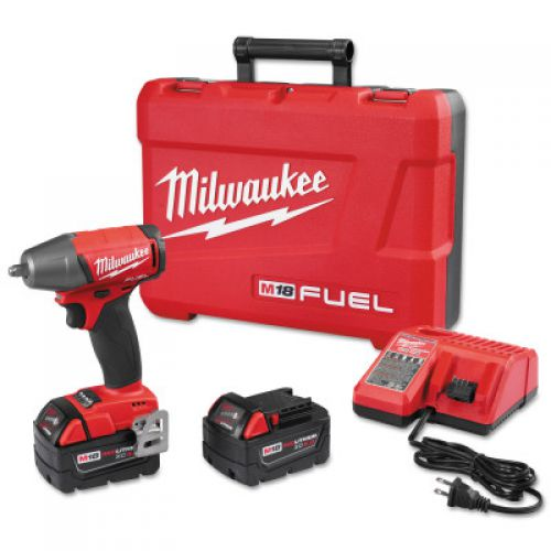 MILWAUKEE ELECTRIC TOOLS M18 FUEL 3/8'' Compact Impact Wrenches with Friction Ring Kits, 18 V, 2,500 rpm