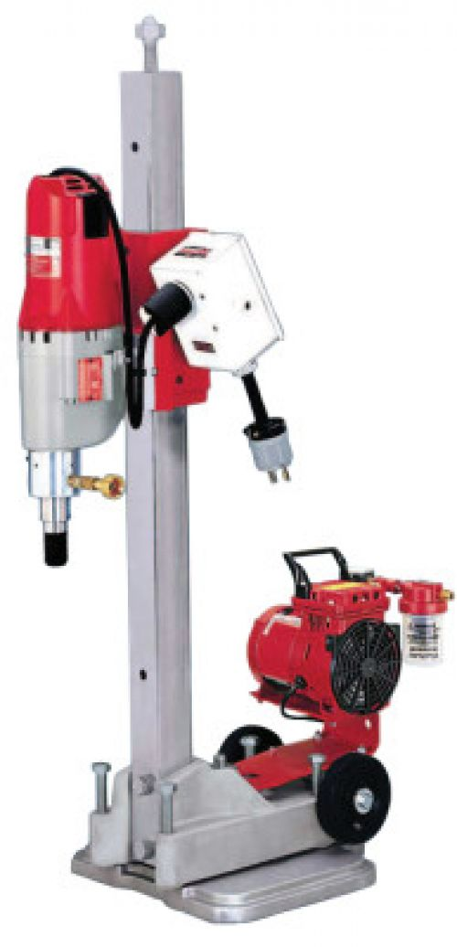 MILWAUKEE ELECTRIC TOOLS Contractor-Plus Diamond Coring Rigs, 450 rpm; 900 rpm, Small Base