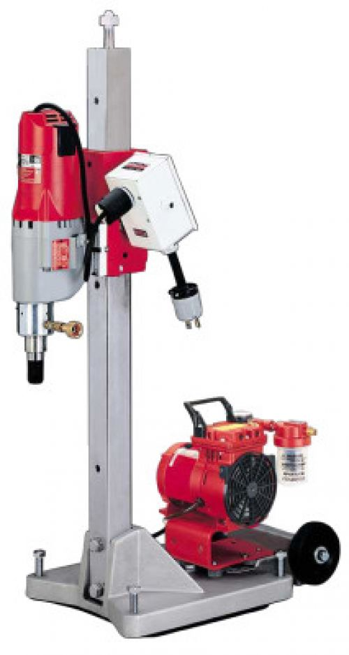 MILWAUKEE ELECTRIC TOOLS Contractor-Plus Diamond Coring Rigs, 450 rpm; 900 rpm, Large Base