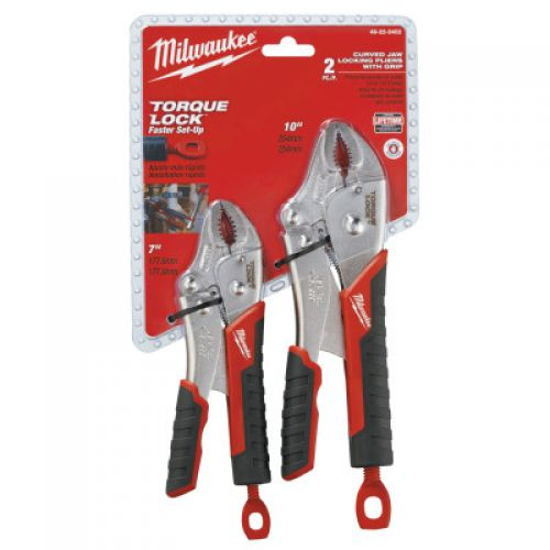 MILWAUKEE ELECTRIC TOOLS Torque Lock Curved Jaw Locking Pliers Sets, 7 in; 10 in