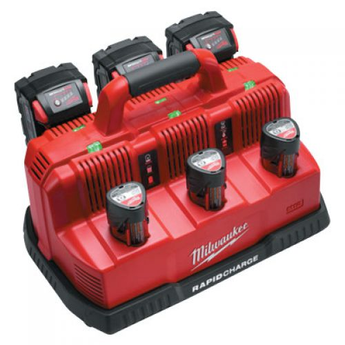 MILWAUKEE ELECTRIC TOOLS M18 and M12 Rapid Charge Station, Lithium-ion, 120 Volt, Red/Black