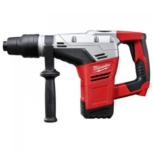 MILWAUKEE ELECTRIC TOOLS Spline Rotary Hammer, 1 9/16 in Drive, Back D-Handle/Side Rod