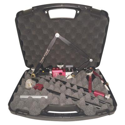 """FLANGE WIZARD Combo Case, Miter Marker Arm/MultiHole Image Tower Assembly, 1 1/2""""-18"""" Pipe Cap"""