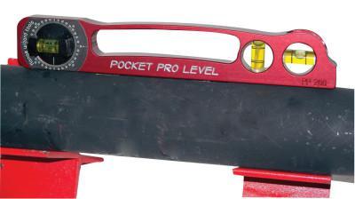 FLANGE WIZARD Pocket Pro Levels, 9 in, 3 Vials
