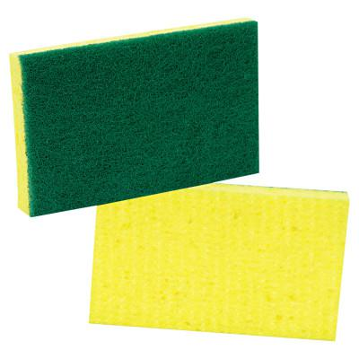 SCOTCH-BRITE PROFESSIONA Medium-Duty Scrubbing Sponge, 3 1/2 x 6 1/4, Yellow/Green