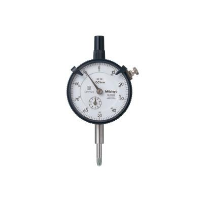 MITUTOYO Series 2 Dial Indicators, 0-100 Dial, 10 mm Range, 0.01 mm Graduation