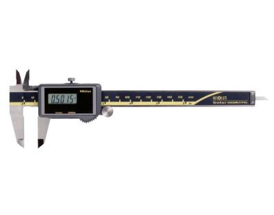 MITUTOYO Series 500 ABS Solar Digimatic Calipers, 0 in-6 in, Hardened  Steel, SPC
