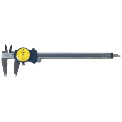 MITUTOYO Series 505 Dial Calipers, 0 mm-200 mm, 2mm/Revolution, Hardened Steel