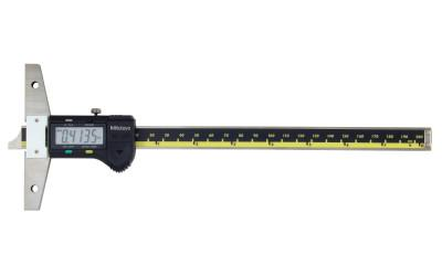 MITUTOYO 8 in/200mm,.0005 in/0.01mm Digimatic Depth Gage,w/SPC Output;Depth Gage,Dig,0-8""