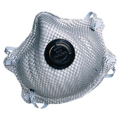 MOLDEX 2400 Series N95 Particulate Respirators, Half-facepiece, M/L, 10/bag