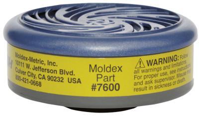 MOLDEX 7000 & 9000 Series Gas/Vapor Cartridges, Multi-Gas/Vapor Smart