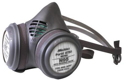 MOLDEX 8000 Series Assembled Respirators, Medium, N95 & Nuisance Ozone/OV Filter