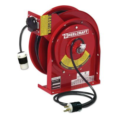 REELCRAFT 12/3 x 45ft Compact Power Cord Reel, 20A Single GFCI