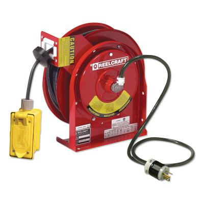 REELCRAFT 12/3 x 45ft Compact Power Cord Reel, 20A Duplex GFCI