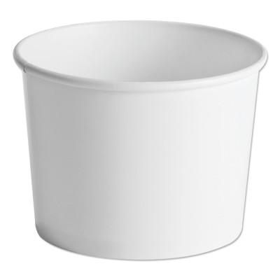 HUHTAMAKI FOODSERVICE Paper Food Containers, 64oz, White, 25/Pack