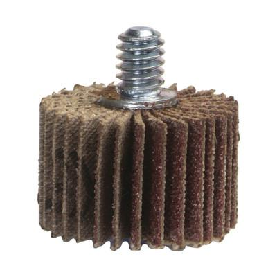 NORTON Coarse Grit Threaded Shank Mini Flap Wheels, 3 in x 1 in, 60 Grit, 20,000 rpm