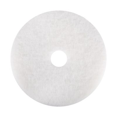 NORTON General Purpose Floor Maintenance Pads, 20 in Dia, White
