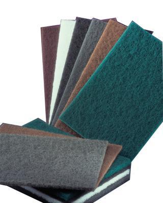 NORTON Bear-Tex Hand Pads, Very Fine, Silicon Carbide, Gray