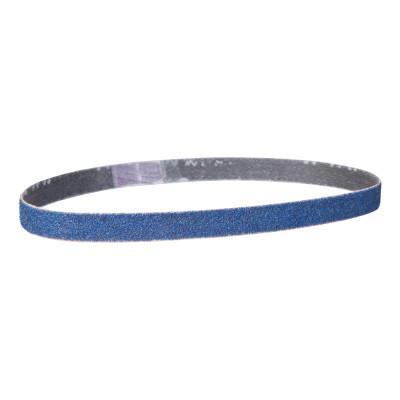 NORTON Blue Fire Coarse Grit Cloth File Belts, 3/8 in x 13 in, 80 Grit