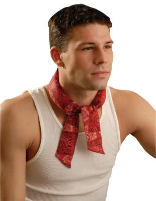 OCCUNOMIX MiraCool Neck Bandanas, 2 in X 34 in, Cowboy Red