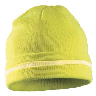 OCCUNOMIX Hi-Viz Knit Caps, Hi-Viz Lime Yellow