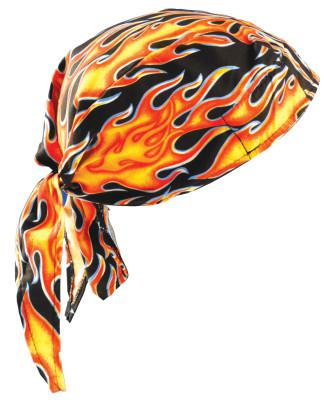 OCCUNOMIX Tuff Nougies Deluxe Tie Hats, One Size, Large Flames