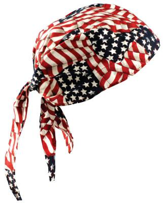 OCCUNOMIX Tuff Nougies Deluxe Tie Hats, One Size, Wavy Flag