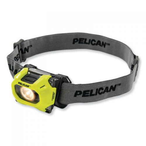 PELICAN Color Correction LED Headlight, 3-AAA Alkaline, High 72/Low 36 Lumens, Yellow