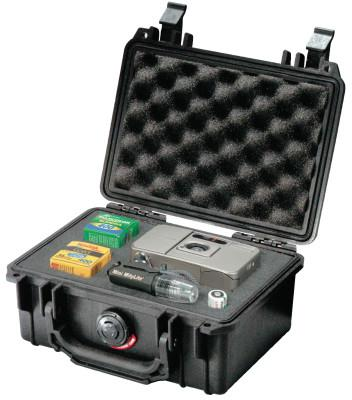 PELICAN Small Protector Cases, 1120 Case, 4 3/4 in x 3.06 in x 7 1/4 in, Black