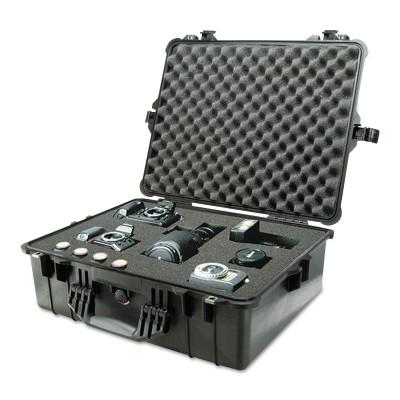 PELICAN Large Protector Cases, 1600 Case, 16.54 in x 7.99 in x 21.51 in, Black, No Foam